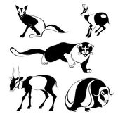 Art animal silhouettes — Stock Photo