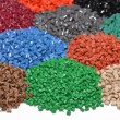 Dyed plastic granulate — Stock Photo