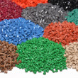 Stock Photo: Dyed plastic granulate