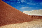 Sandheap in mine — Stock Photo