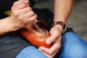 Shoemaker During Work — Stock Photo