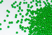 Green polymer resin — Stock Photo