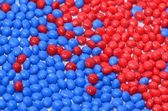 Blue and red polymer esin — Stock Photo
