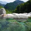 Verzasca-valley in Switzerland - Stock Photo