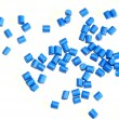 Blue pellets — Stock Photo