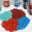Stock Photo: Dyed polymer resin in laboratory
