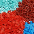 Dyed polymer resins - Stock Photo
