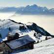 View from Rigi alp in winter — Stock Photo