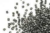 Silver metallic polymer — Stock Photo