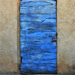 Wooden blue door — Stock Photo