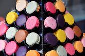 Macarones on rack — Stock Photo