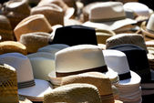 Hats on marked — Stock Photo