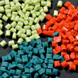 Dyed polymer resin — Stockfoto