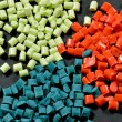 Stock Photo: Dyed polymer resin