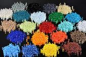 Gefärbte polymerharzen — Stockfoto