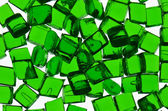 Green transparent polymer resin — Stock Photo