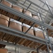 Foto Stock: High bay stock with boxes