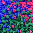 Dyed polymer resin — Stock Photo