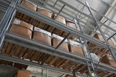 High bay stock with boxes — Stok fotoğraf