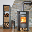 Stock Photo: Wood fired stove