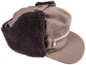 Cap with ear winter protection — Stock Photo