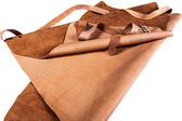 Protective brown apron — Stock Photo