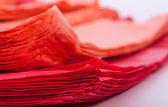 Red plastic bag — Stock Photo