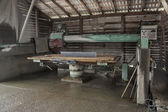 Stone industry - cutting line in saw mill — Stock Photo