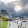 Stock Photo: Storm clouds gather over City Hall, London, UK
