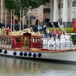 Stock Photo: Gloriana, 2012 royal diamond jubilee barge, St Katherine Dock, London, UK
