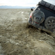 Stock Photo: 4x4 stuck in mud in Nevaddesert, US