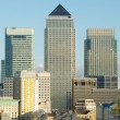 View of Canary Wharf across the Thames, London, UK - Stock Photo