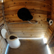 Drop toilet in camping area, Alaska, US — Stock Photo #18144565