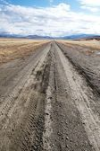 Road stretching to the horizon like a path to the future, NV, US — Stock Photo