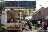 Churreria and chocolateria at town fair, Spain — Stock Photo