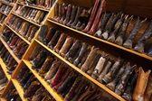 Botas vaqueras de línea los estantes, austin, texas, nos — Foto de Stock