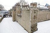 Tower of London in the snow, East London, UK — Stock Photo