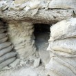 Spanish Civil War trench shelter, La Fatarella, Catalonia, Spain - Stock Photo