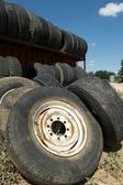 Used tires, Christoval, West Texas, US — Stock Photo