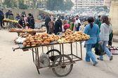 Straat verkopers, marrakech, marokko — Stockfoto