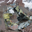 Stock Photo: Soviet helicopter crash in Kyrgyz KhTengri base camp