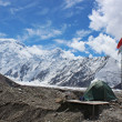 Kyrgyzstan - Pobeda Peak base camp — Stock Photo