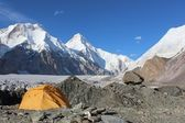 Kyrgyzstan - Khan Tengri (7,010 m) base camp. — Stock Photo