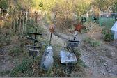 Soviet cementary in Jalalabad (Kyrgystan) — Stock Photo