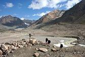 Trekking in Tien Shan mountains — Stock Photo