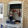 Butcher shop in Khiva  Uzbekistan — Foto Stock