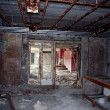Chernobyl area. Lost city Pripyat. Modern ruins. - Stock Photo