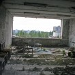Постер, плакат: Chernobyl area Lost city Pripyat Modern ruins