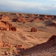 Bayan Zagh, The Flaming Cliffs of Mongolia s Gobi Desert — Stock Photo