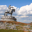 Stock Photo: Statue of Genghis Khan, UlBator , Mongolia